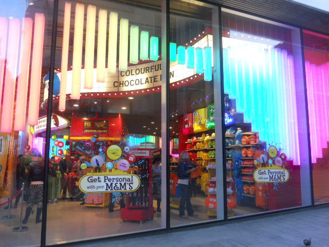 m&ms world, leicester square