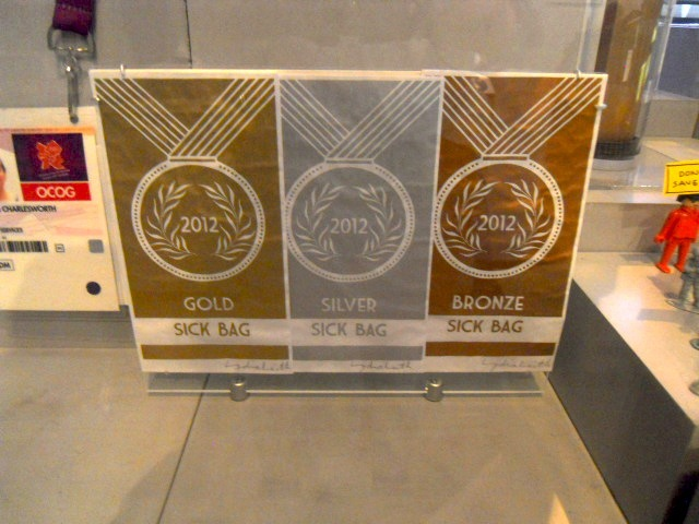 museum of london, world city, 2012, london olympics, sick bags