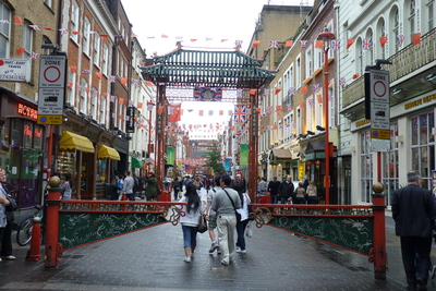 The entrance to China Town
