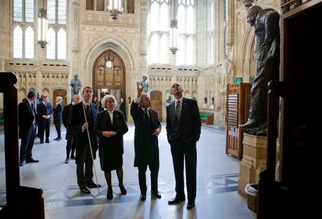 houses of parliament, westminster hall, members' lobby, barack obama