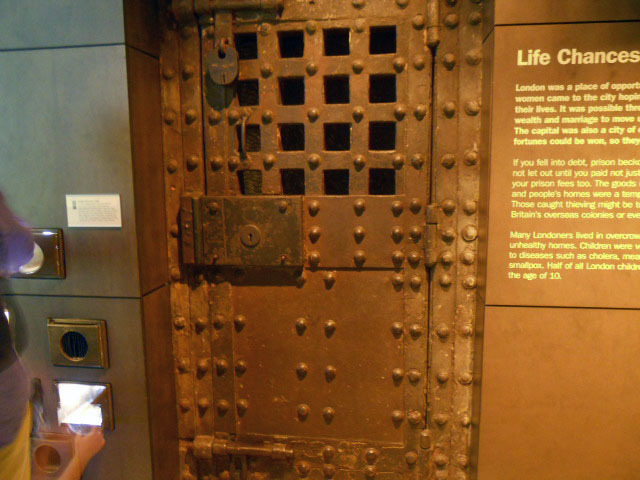 museum of london, expanding city, prison, door
