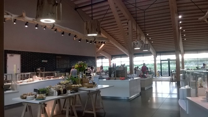 Gloucester Services cake food shop hall stop road travel