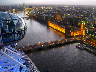 The Houses of Parliament and Big Ben from the London Eye (c) JP Mundy 2012