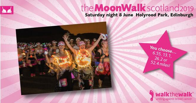 moonwalk, scotland, 2019, frundraiser, cancer, research, fun run, charity, volunteer, exercise, holyrood park