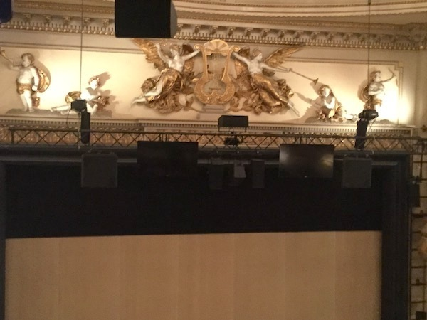 Noel Coward Theatre, Leicester Square, auditorium, cherubs