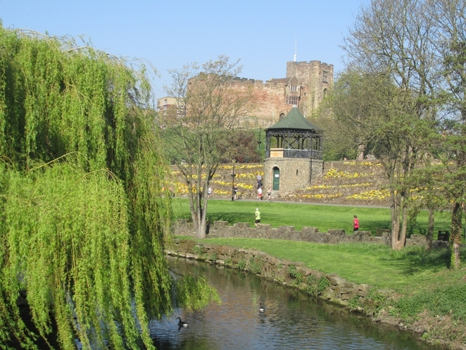 A view of the bandstand in Tamworth Castle Grounds