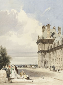 the discovery of paris, watercolour, wallace collection, Thomas Shotter Boys, The Pavillon de Flore, Tuileries (PD.1-1967) © The Fitzwilliam Museum, Cambridge.
