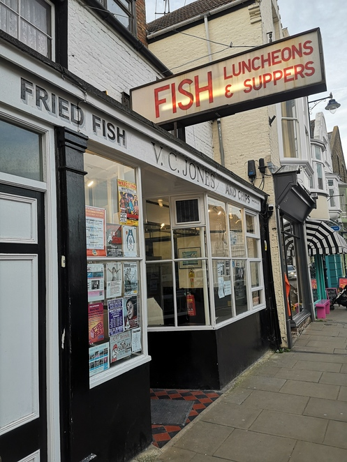 VC jones, fish and chips, Whitstable