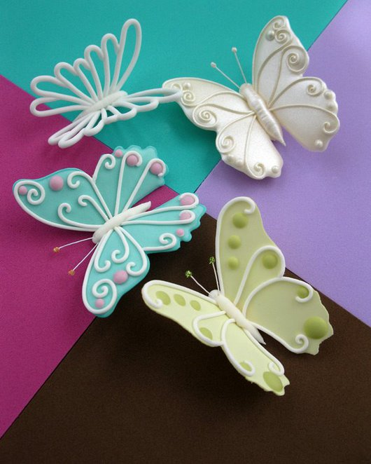 cake and bake show, butterflies, sugar paste, marzipan