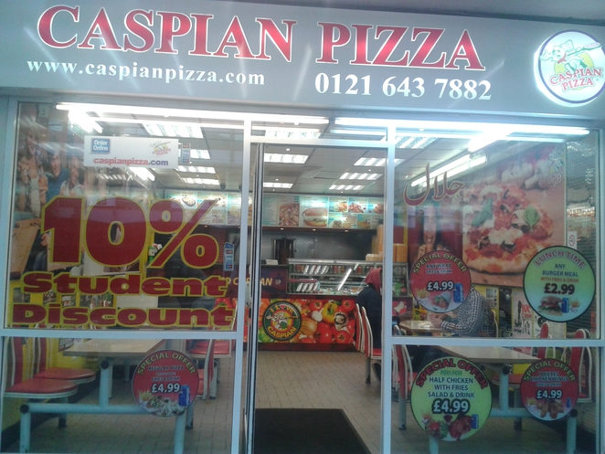 Caspian's, Caspian's pizza, cheap, takeaway