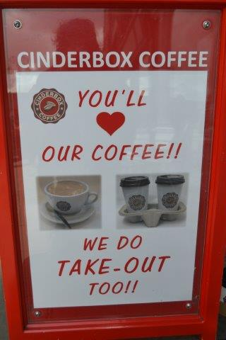 Cinderbox Coffee, Chester, Punchinella Italian Coffee, Book Swap