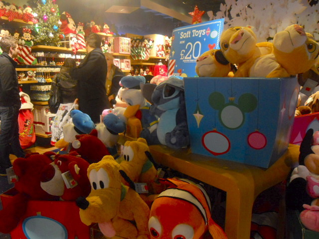 Christmas Shopping Disney Store Oxford Street London
