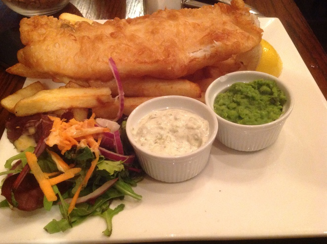 Henrick's, Fish and Chips, Haddock, Edinburgh, Restaurant Dish