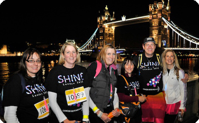 shine, marathon, cancer research