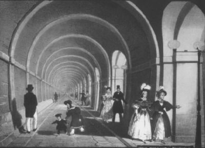Thames Tunnel artists' painting