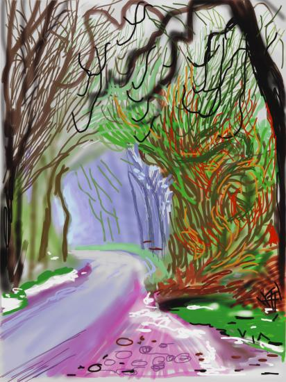 the arrival of spring, david hockney, annely jude fine art
