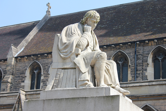 Samuel Johnson statue, St Mary's in Market Square, Lichfield Heritage Weekend