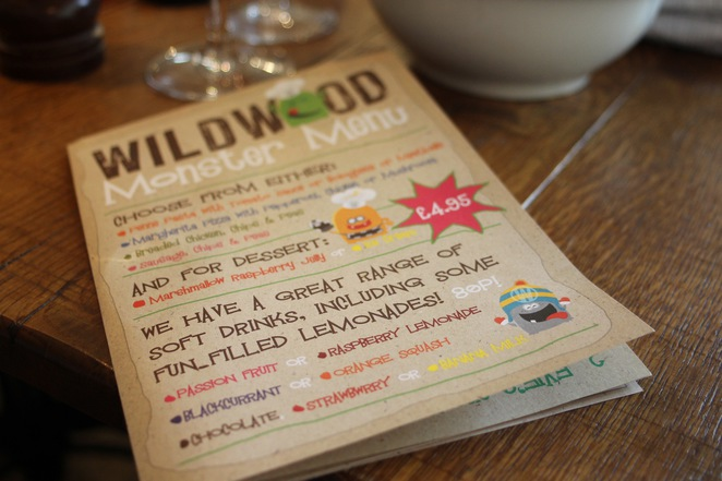 Wildwood kitchen Barnes kids menu