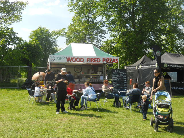 wood fired pizza, morden hall country show, oakleigh fairs