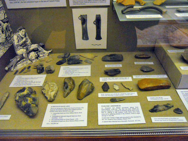 wimbledon society museum, stone age, tools