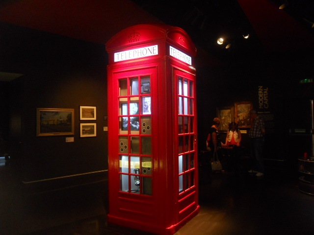 museum of london, people's city, K2 Telephone Kiosk