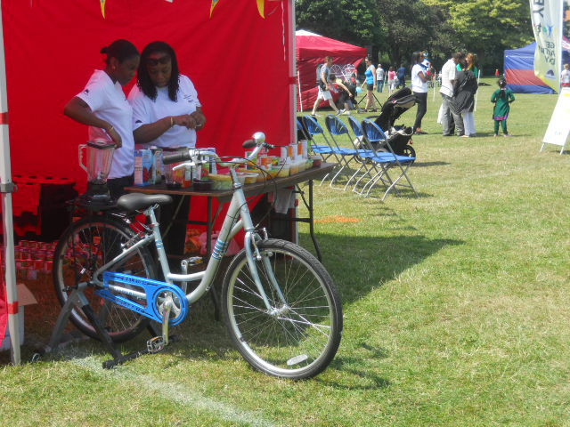 king george's park, get active wandsworth festival, bicycle, give it a go festival, smoothie