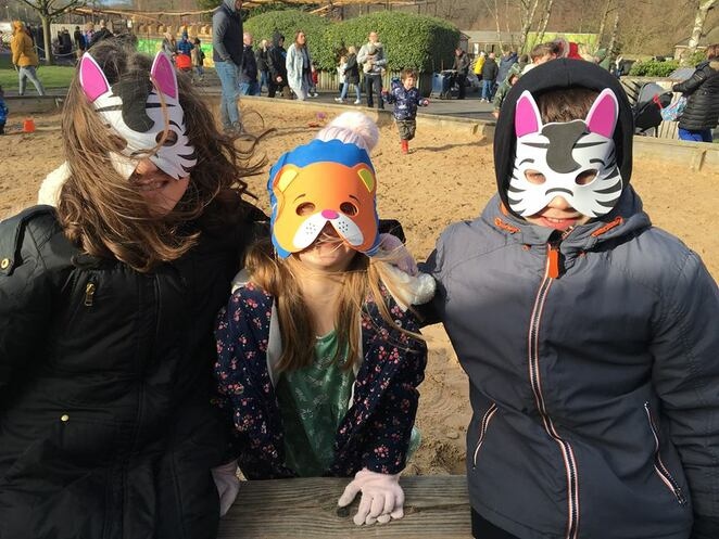 Knowsley Safari Park, animals, family fun, animal masks, kids, school holidays