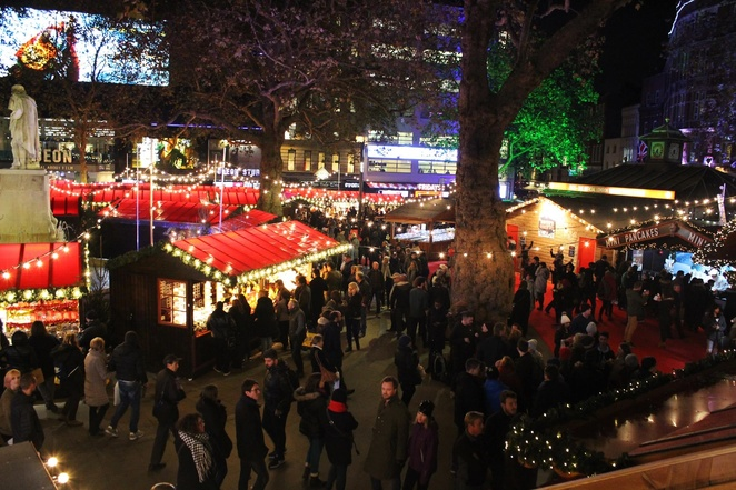 Leicester Square Christmas, London