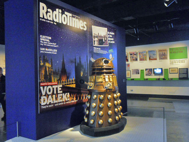 radio times, cover story, anniversary, museum of london, birthday, 90, front cover, doctor who, daleks