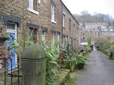 Terraces, Canal, Towpath, Hebden Bridge, Yorkshire