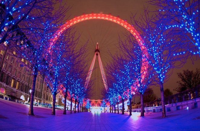 London Eye Durring Christmas