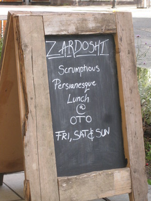 Cafe Oto blackboard