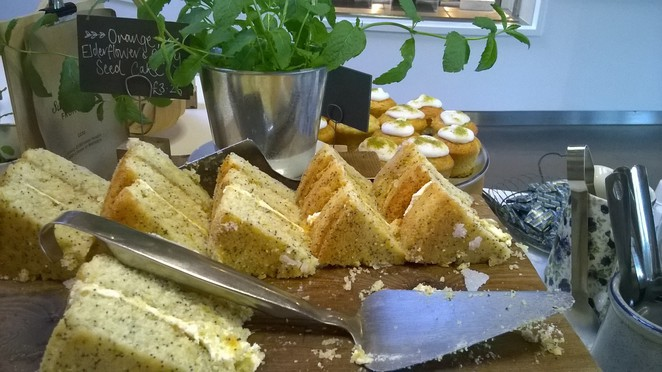 Gloucester Services cake food stop road travel