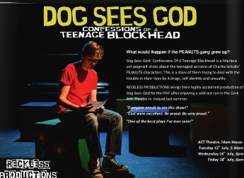 international youth arts theatre, dog sees god, confessions of a teenage blockhead