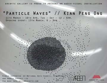 particle waves, kian peng ong, arebyte gallery