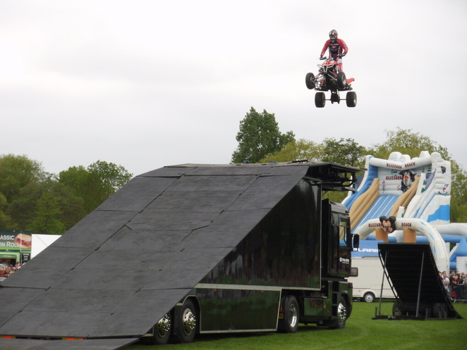 Lichfield Bower Festival, Beacon Park, quad bike, stunts