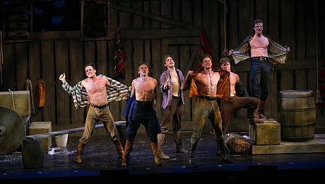 Seven Brides for Seven Brothers, New Alexandra Theatre, Birmingham, musical, Sam Attwater