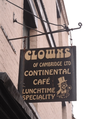 clowns cafe,cambridge,lunch,italian