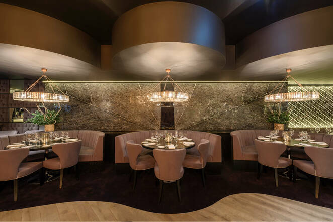 Gaucho Birmingham restaurant, social distancing, spaced out tables