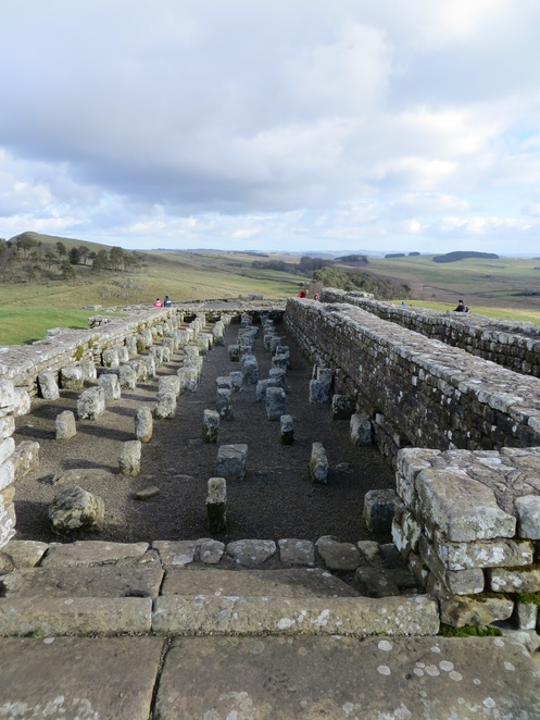 hadrians, wall, housesteads, roman, fort, hypocaust