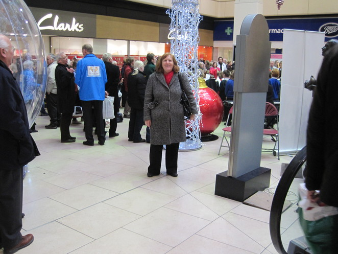 Margaret among the festive crowds at Eldon Square December 2012