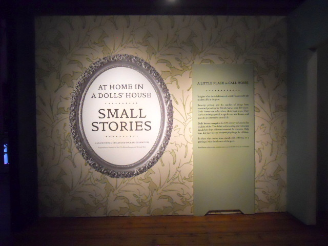 museum of childhood, small stories, at home in the dolls' house
