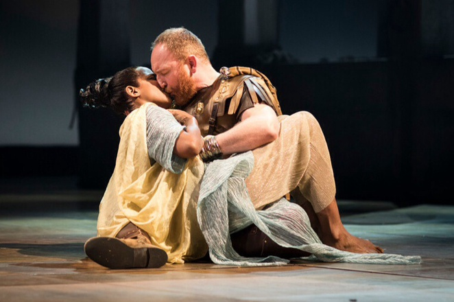 Photo by Helen Maybanks, Antony and cleopatra, Josette Simon, Antony Byrne, Rome season, RSC.