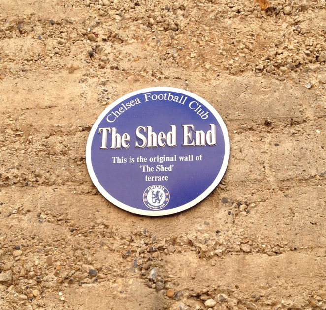 Shed End Plaque, Chelsea Football Club
