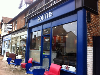 Souths, Summertown, Oxford, coffee shop, retro record