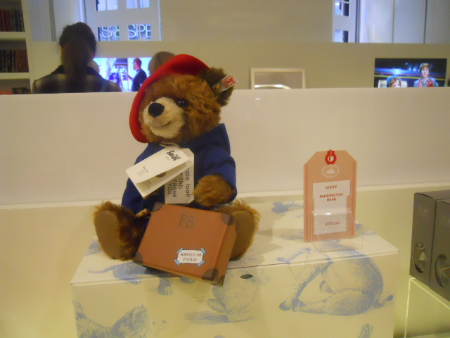 the paddington curiosity shop, selfridges, paddington trail, paddington bear, steiff