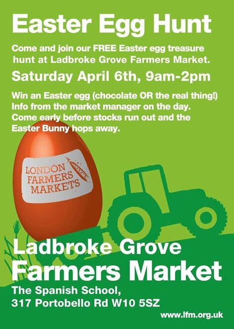 2019 easter egg hunts at london farmers markets, community event, fun things to do, public holiday, religious holiday, easter celebrations, markets, stallholders, easter bunny, free range market eggs, free range and organic goods, biodynamic british eggs, goose eggs, duck eggs, quail eggs, phaisant eggs, ealing, ladbroke grove, swiss cottage, balham and wimbledon, farmers, from earth to plate, stall holders, family fun, buy direct from farmers