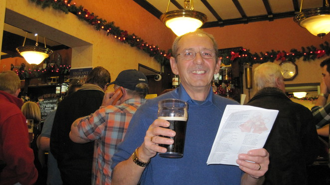 Hubby Colin enjoys a Singalong at our local pub