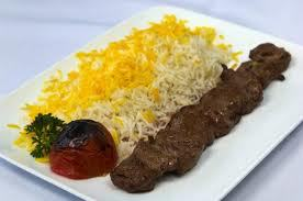 Lamb Skewer and Basmati Rice