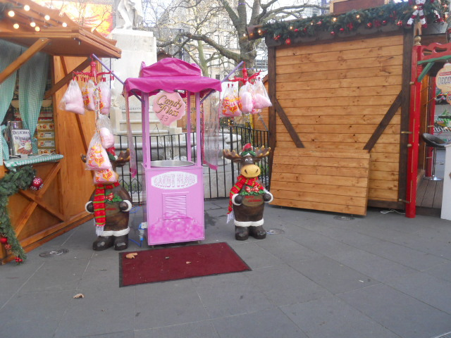 leicester square, christmas, funfair, candy floss